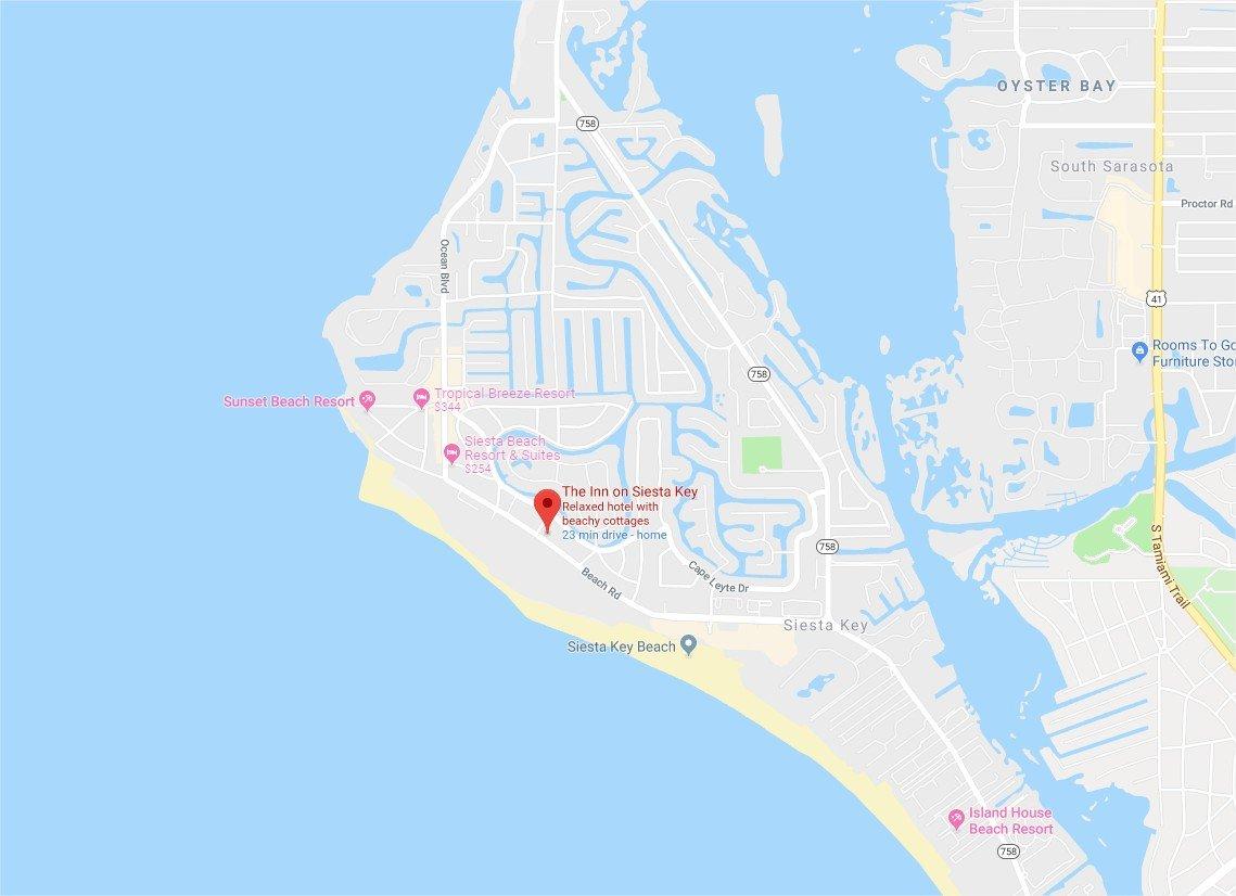 The Inn on Siesta Key - Google Maps - Google Chrome