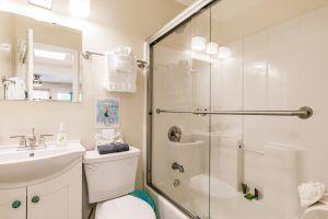 The Cabana, Bathroom with Tubshower